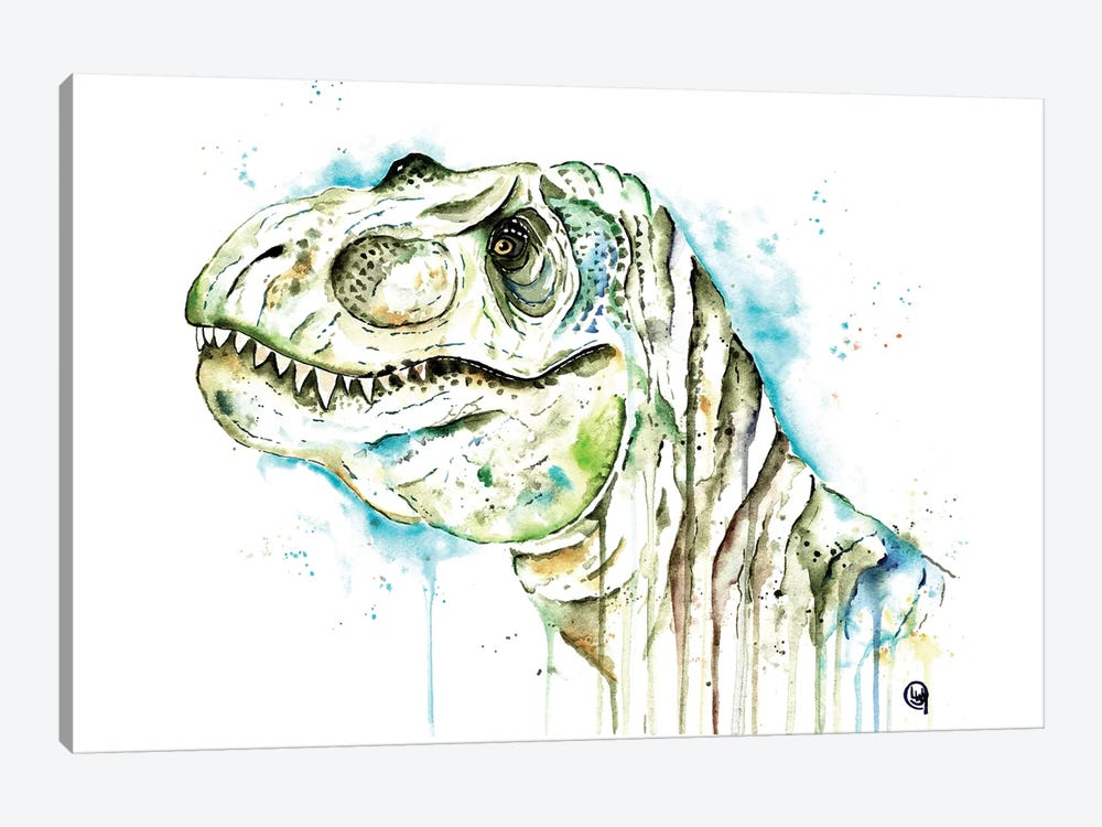 Tom The T-Rex by Lisa Whitehouse 1-piece Canvas Artwork