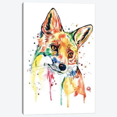 Whimsy Fox Canvas Print #LWH88} by Lisa Whitehouse Canvas Artwork