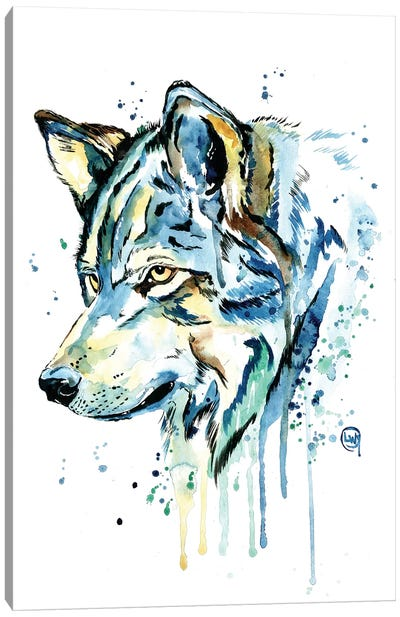 Wolf Grey Sky Canvas Art Print