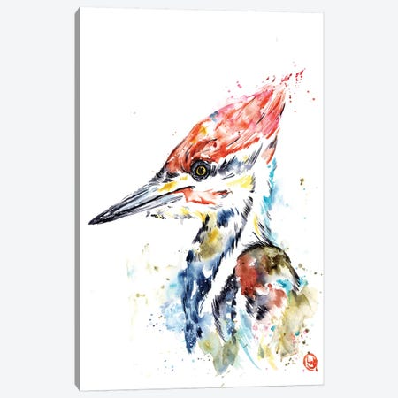 Woodpecker Canvas Print #LWH90} by Lisa Whitehouse Art Print