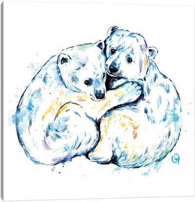Polar Bear Brothers Canvas Art Print