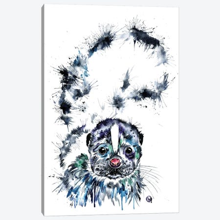 Skunk Baby Canvas Print #LWH95} by Lisa Whitehouse Canvas Artwork