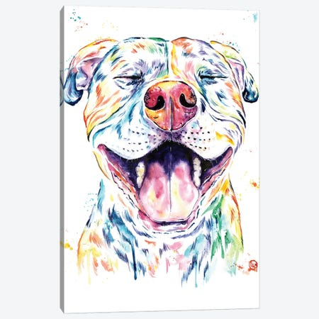 Tango The Pit Bull Canvas Print #LWH96} by Lisa Whitehouse Canvas Art