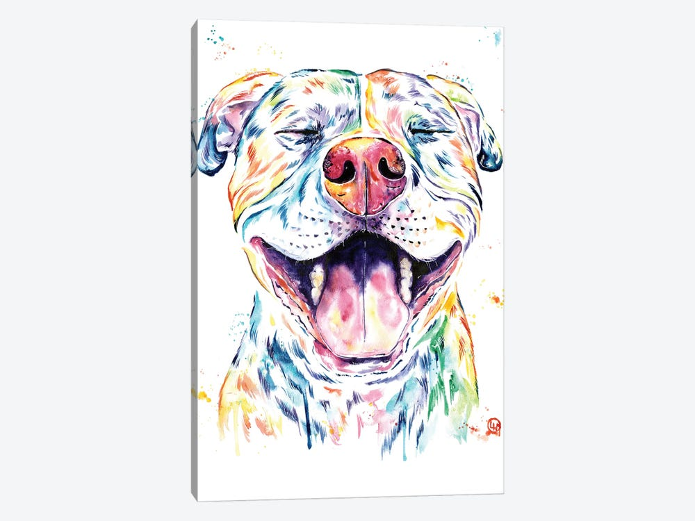 Tango The Pit Bull by Lisa Whitehouse 1-piece Canvas Art