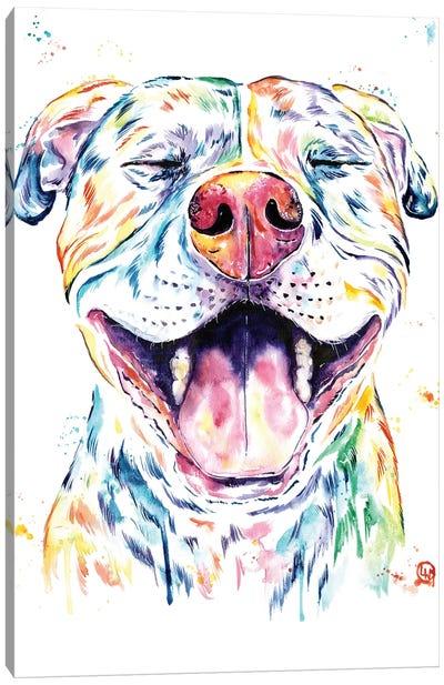 Tango The Pit Bull Canvas Art Print