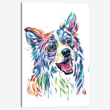 Border Collie Canvas Print #LWH99} by Lisa Whitehouse Canvas Art Print