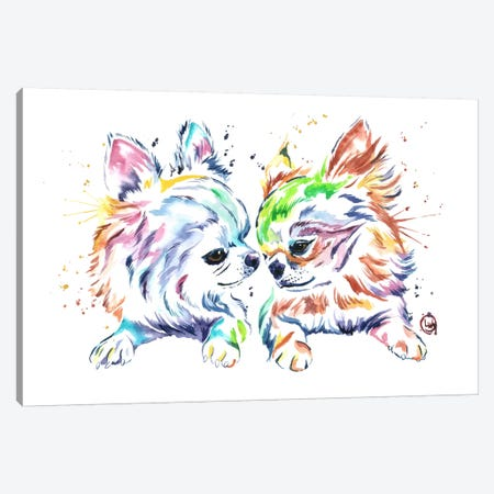 Chihuahua Love Canvas Print #LWH9} by Lisa Whitehouse Canvas Wall Art