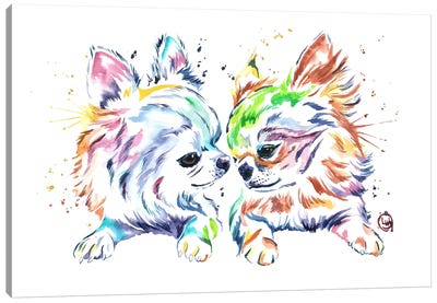 Chihuahua Love Canvas Art Print