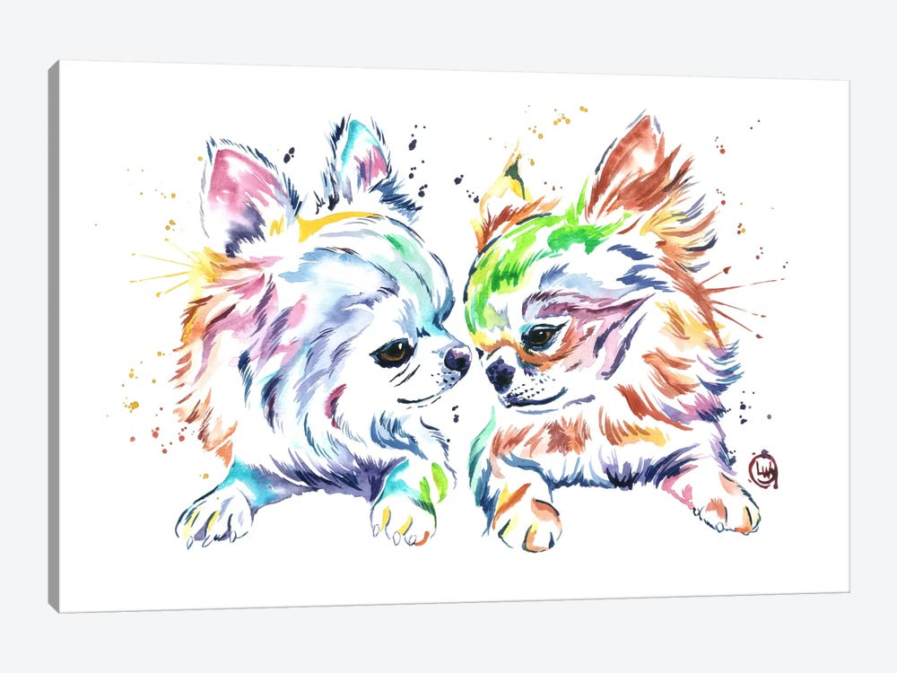 Chihuahua Love by Lisa Whitehouse 1-piece Canvas Art Print