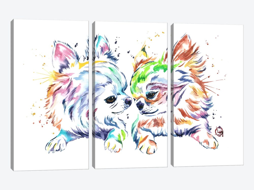 Chihuahua Love by Lisa Whitehouse 3-piece Canvas Art Print