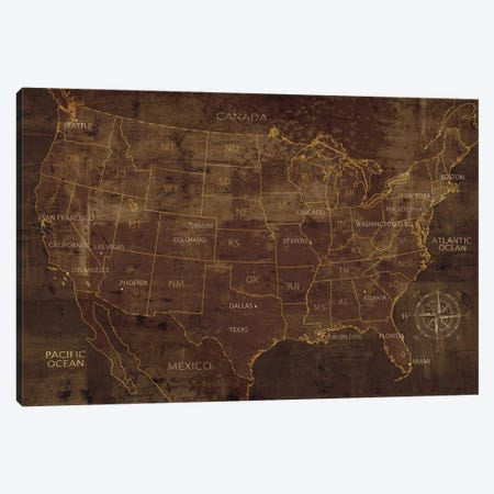 United States Canvas Print #LWI100} by Luke Wilson Art Print
