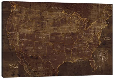 United States Canvas Art Print