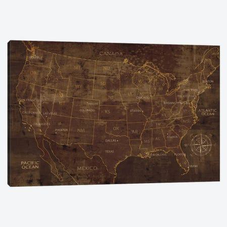 United States Canvas Print #LWI100} by Luke Wilson Art Print