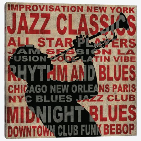 Jazz I Canvas Print #LWI12} by Luke Wilson Canvas Artwork