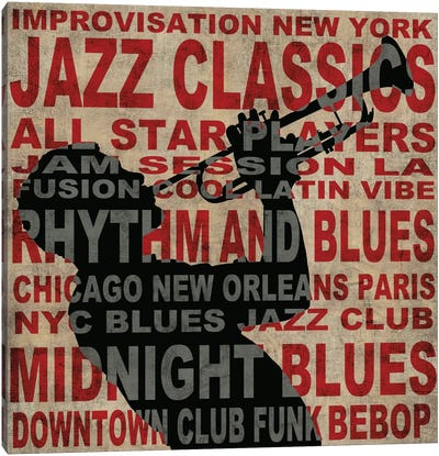 Jazz I Canvas Art Print