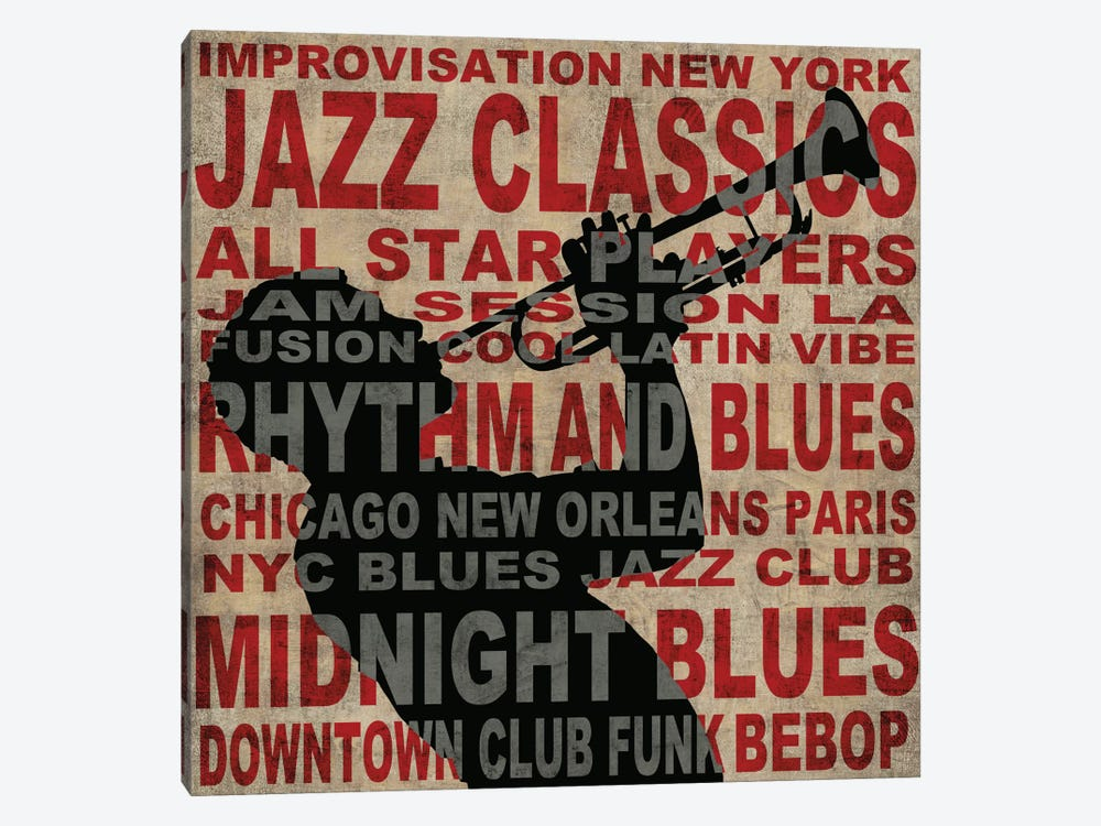 Jazz I by Luke Wilson 1-piece Canvas Art Print