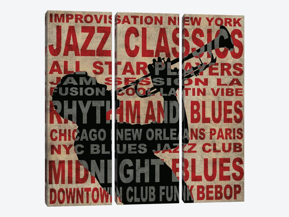 Jazz I 3-piece Canvas Print