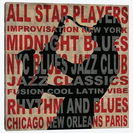 Jazz II Canvas Print #LWI13} by Luke Wilson Canvas Wall Art