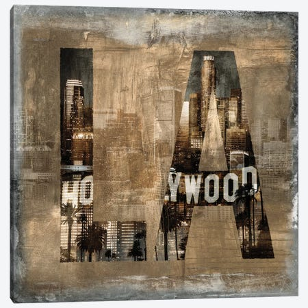 LA Revealed Canvas Print #LWI15} by Luke Wilson Canvas Art Print