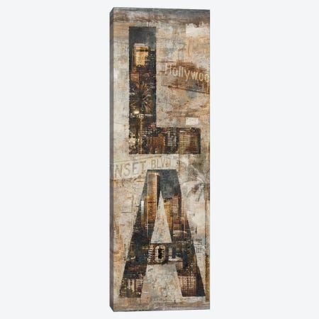 LA Vertical Canvas Print #LWI16} by Luke Wilson Canvas Print