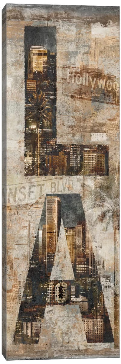 LA Vertical Canvas Art Print