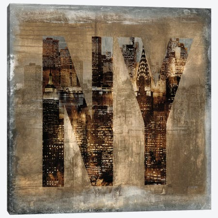 NY Revealed Canvas Print #LWI21} by Luke Wilson Canvas Art Print
