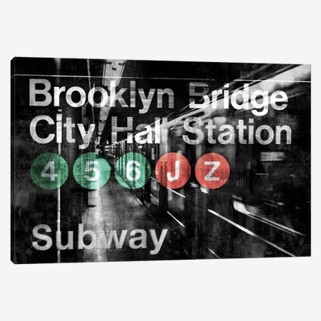 NYC Subway Station I Canvas Print #LWI23} by Luke Wilson Canvas Print