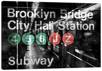 NYC Subway Station I Canvas Art Print