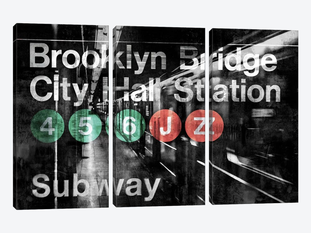 NYC Subway Station I by Luke Wilson 3-piece Canvas Art Print