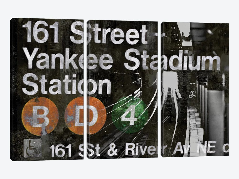 NYC Subway Station II by Luke Wilson 3-piece Canvas Art