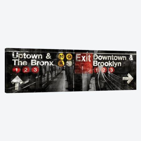 NYC Subway Station III Canvas Print #LWI25} by Luke Wilson Canvas Art