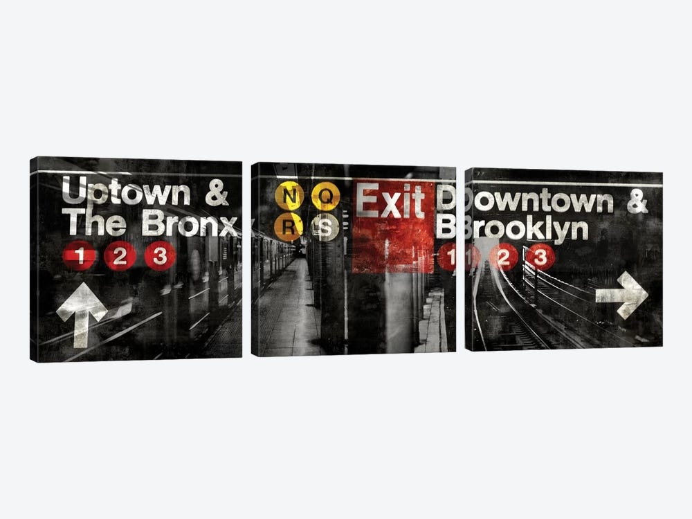 NYC Subway Station III by Luke Wilson 3-piece Art Print