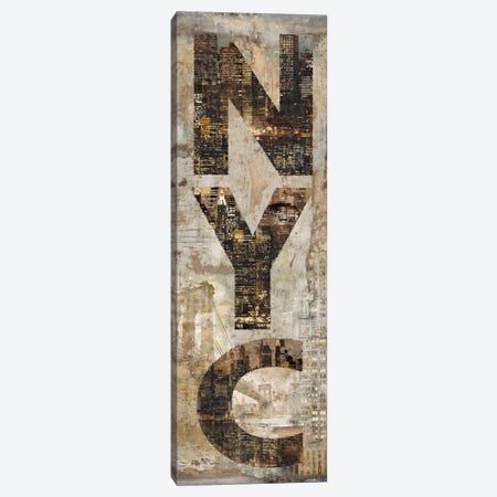 NYC Vertical Canvas Print #LWI26} by Luke Wilson Canvas Art