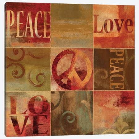 Peace Sign Canvas Print #LWI28} by Luke Wilson Canvas Art Print