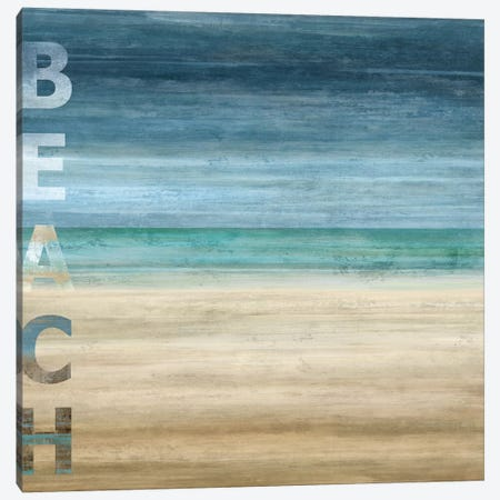 Beach Canvas Print #LWI2} by Luke Wilson Canvas Art Print