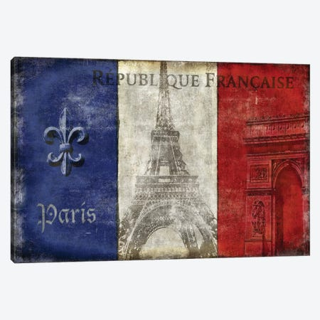 Republique Francaise Canvas Print #LWI32} by Luke Wilson Canvas Artwork
