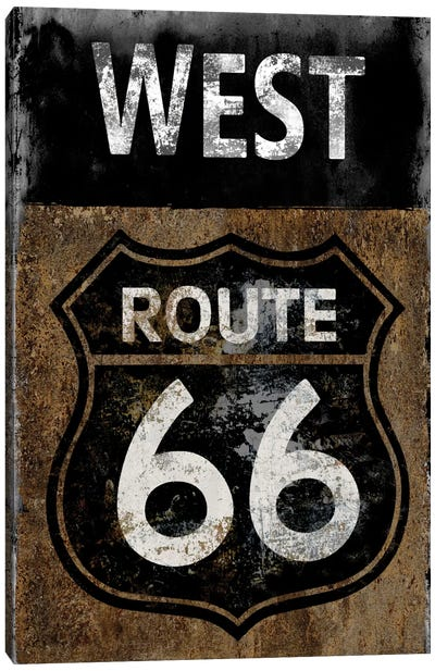 Route 66 West Canvas Art Print