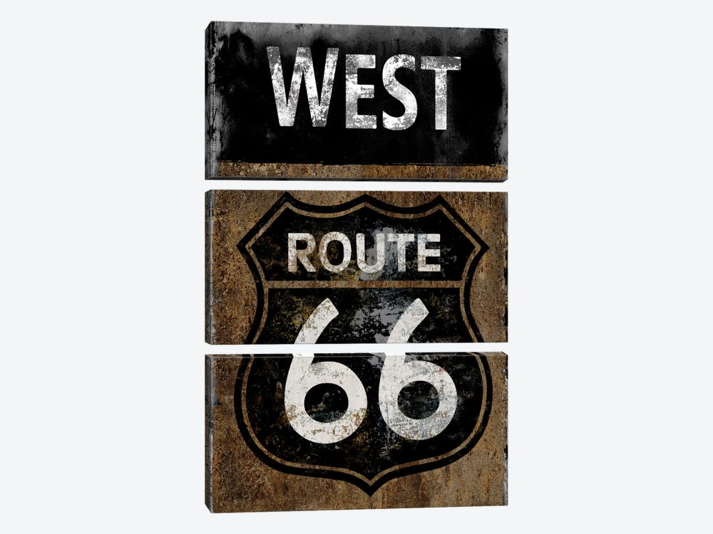 Route 66 West by Luke Wilson 3-piece Canvas Art Print