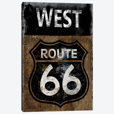 Route 66 West Canvas Print #LWI36} by Luke Wilson Canvas Art Print