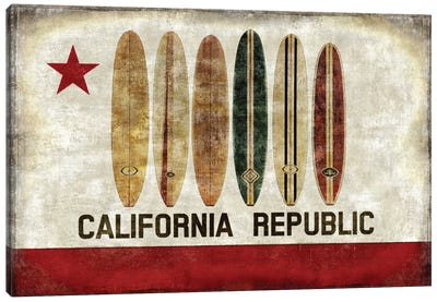 Surf Republic Canvas Print #LWI37