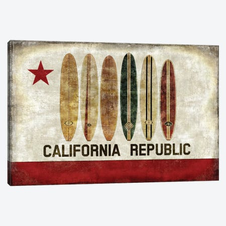 Surf Republic Canvas Print #LWI37} by Luke Wilson Art Print