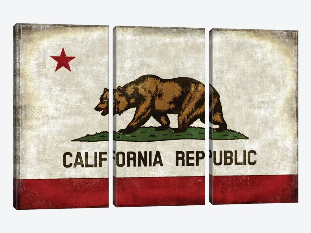 The California Republic by Luke Wilson 3-piece Canvas Artwork