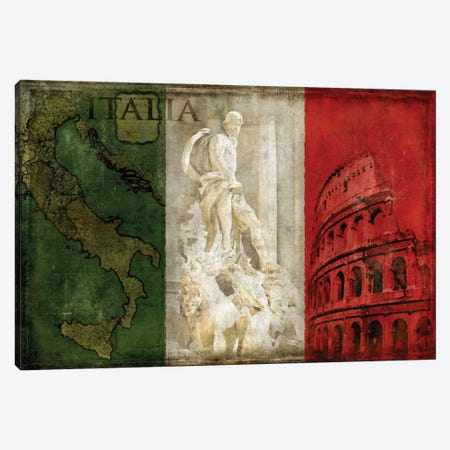 Brava Italia Canvas Print #LWI3} by Luke Wilson Canvas Print