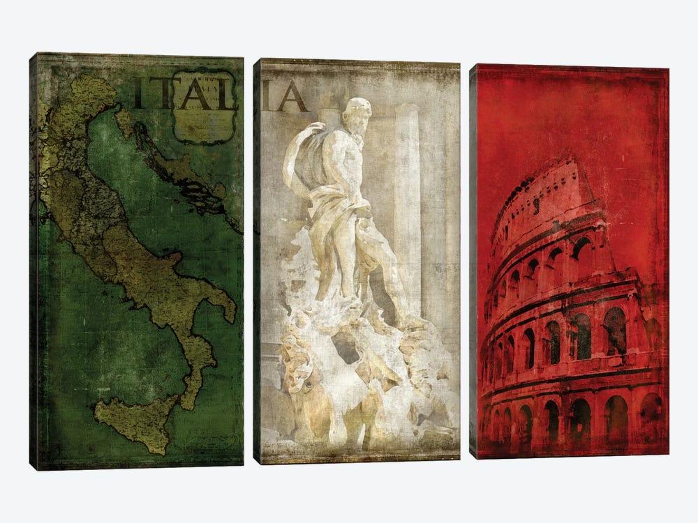 Brava Italia by Luke Wilson 3-piece Canvas Wall Art