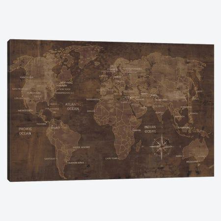 The World Canvas Print #LWI41} by Luke Wilson Art Print