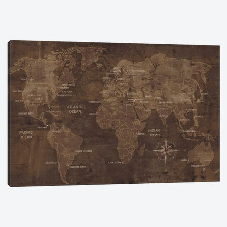 The World Canvas Print #LWI41} by Luke Wilson Art Print