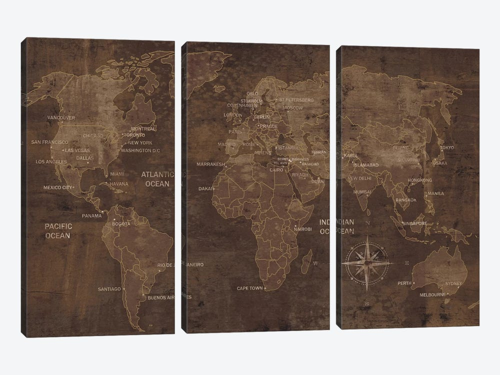 The World by Luke Wilson 3-piece Art Print