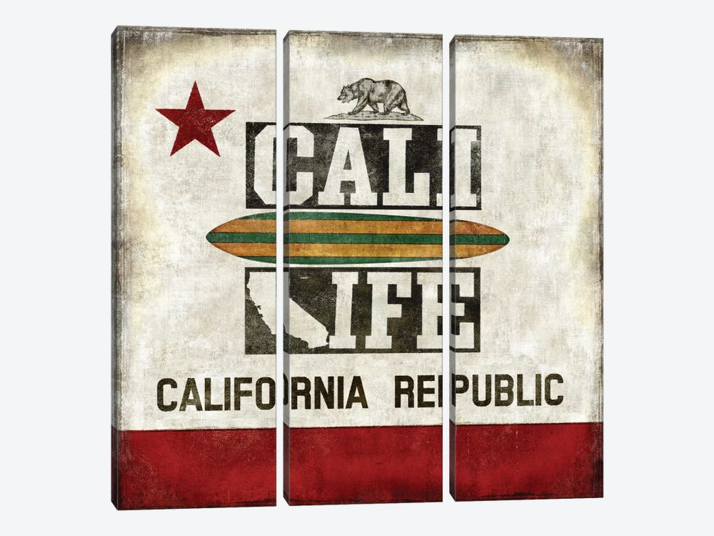 Cali Life by Luke Wilson 3-piece Canvas Art Print