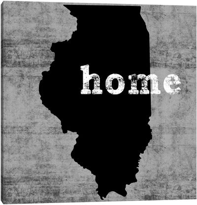 This Is Home Series: Illinois Canvas Art Print