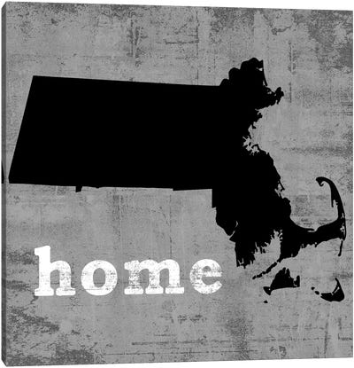 This Is Home Series: Massachusetts  Canvas Art Print